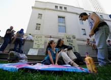 'Indignados' acampados en Los Ángeles