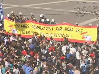 """Ver v?deo  'Los """"indignados"""" griegos toman la plaza Sintagma'"""