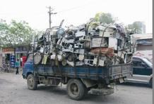 China: 500.000 toneladas de frigoríficos, 1,3 millones de toneladas de televisores, 300.000 toneladas de ordenadores personales