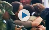 Ingrid Betancourt abraza a sus hijos