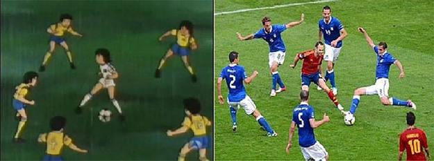 El fotomontaje de Iniesta contra Italia y la serie 'Campeones' que causó furor en Internet