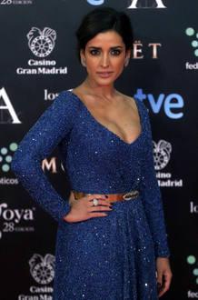 Inma Cuesta, nominada a mejor actriz por '3 bodas de más'. Lleva un vestido de Iván Campaña, zapatos de Jimmy Choo y joyas de Bárcena.