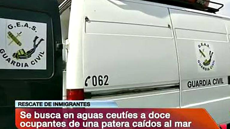 Rescatados 144 inmigrantes de siete pateras y se busca a doce desaparecidos en aguas de Ceuta