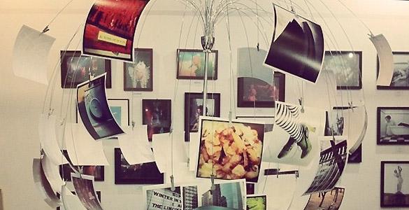 Conjunto de instantáneas tomadas con la popular aplicación de fotografías Instagram