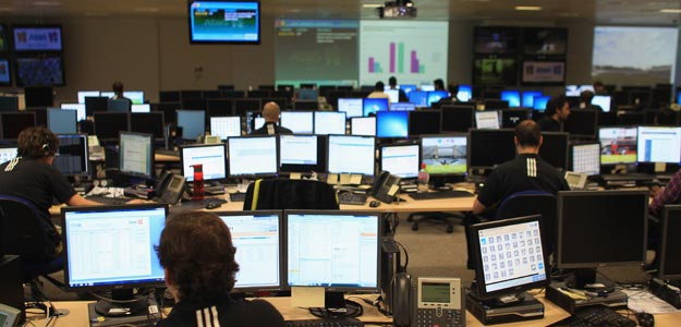 Interior del Centro de Operaciones Tecnológicas de los Juegos de Londres