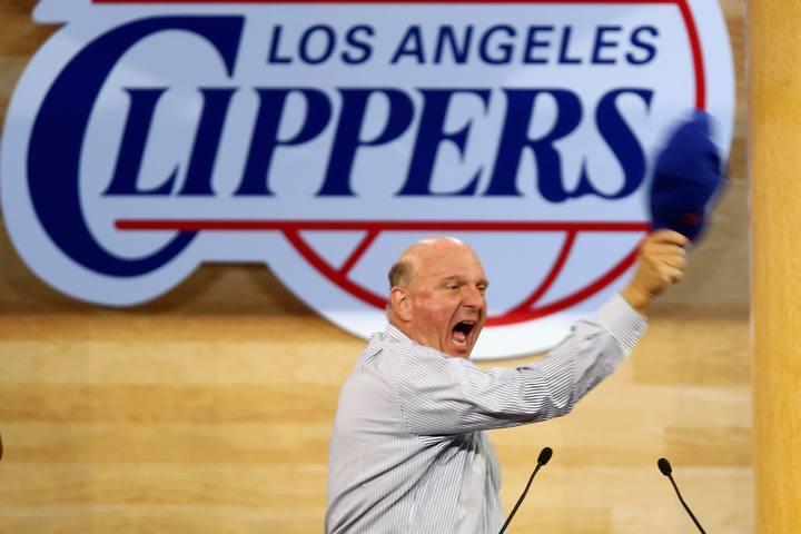 Intervención de Ballmer en el festival de Los Ángeles Clippers