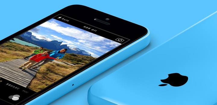 iPhone 5c en azul.