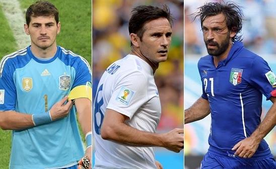 Italia e Inglaterra, campeonas fuera del Mundial, como España