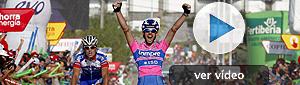 El italiano Gavazzi triunfa en la escapada para ganar en Noja