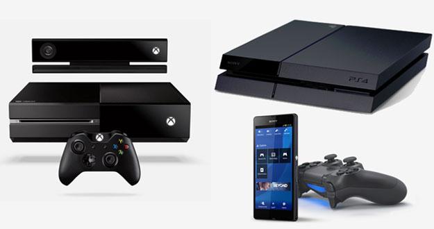 A la izquierda, la Xbox One y a la derecha la PlayStation 4