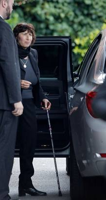 Janis, madre de Amy Winehouse, en el funeral