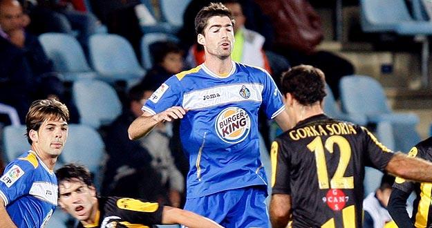 Javier Arizmendi, en una imagen de archivo con el Getafe CF.