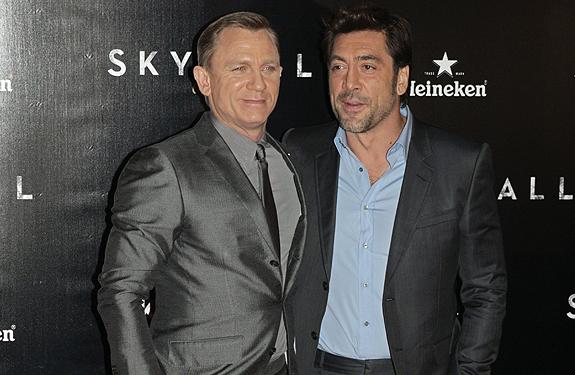 Javier Bardem y Daniel Craig estrenan 'Skyfall' en Madrid