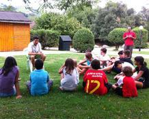 Javier Martín en una de las actividades de Iniciador Kids