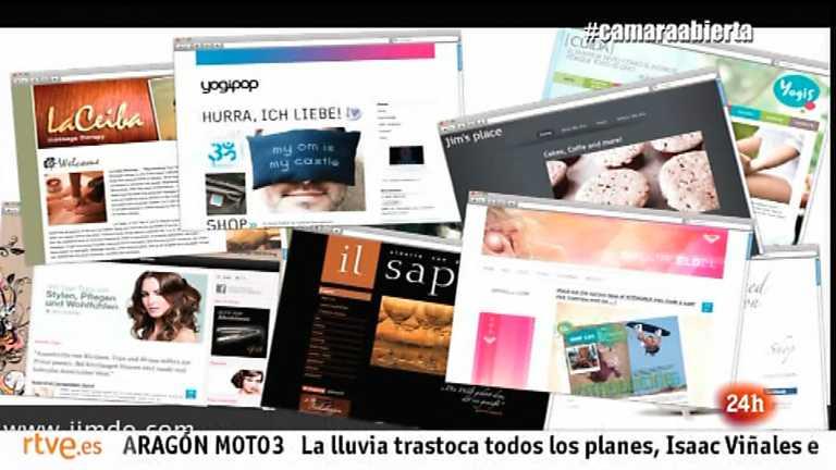 Cámara abierta - La plataforma Jimdo, la webserie 18.0, BabyTribu.com y Lucía Etxebarría en 1minutoCOM - 28/09/13