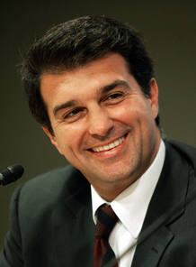 Joan Laporta, presidente del F.C. Barcelona