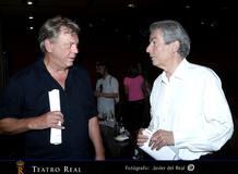 Johan Simons (director de escena), a la izda. y Hartmut Haenchen (director musical), a la dcha.