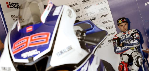 Jorge Lorenzo en el test oficial en Alc&aacute;&ntilde;iz (Teruel)