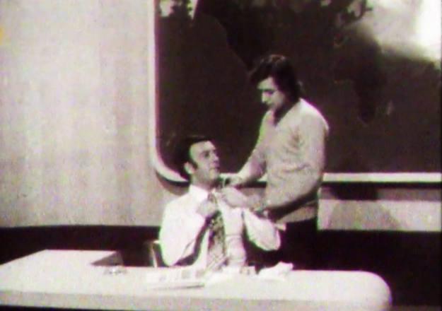 José Antonio Silva, primer presentador de Informe Semanal, unos minutos antes de comenzar el programa.