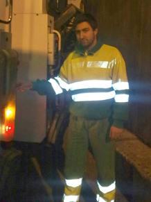 José Ignacio es empleado de limpieza del Ayuntamiento de Madrid.