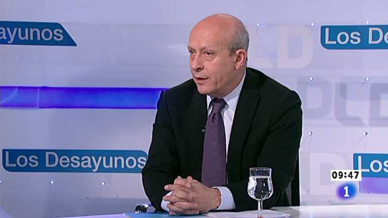 Los desayunos de TVE - José Ignacio Wert, Ministro de Educación, Cultura y Deporte