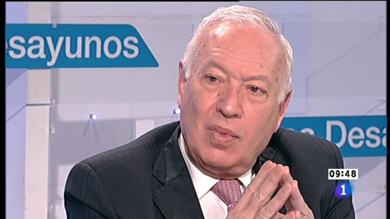 Los desayunos de TVE - Jos&eacute; Manuel Garc&iacute;a-Margallo, ministro de Asuntos Exteriores y Cooperaci&oacute;n