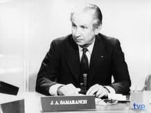 Juan Antonio Samaranch, durant l'emissió del programa 'Vostè pregunta'