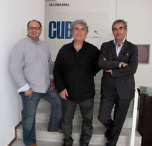 Juan Carlos Moya, Ángle Marcos y José María Díaz-Maroto, tras la entrevista de RTVE.es