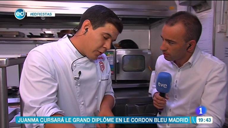 España Directo - Juan Manuel, ganador de Masterchef 2013, cocina lubina con salsa de vieiras