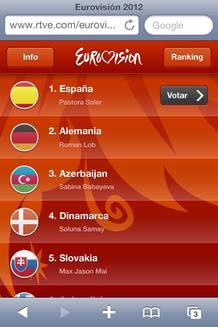 Juega Eurovisi&oacute;n: orden de actuaci&oacute;n