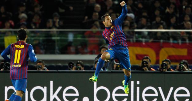 El jugador del Barça, Adriano.