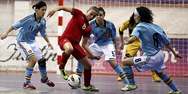La selecci n espa ola de f tbol sala femenino logra el for Federacion espanola de futbol sala