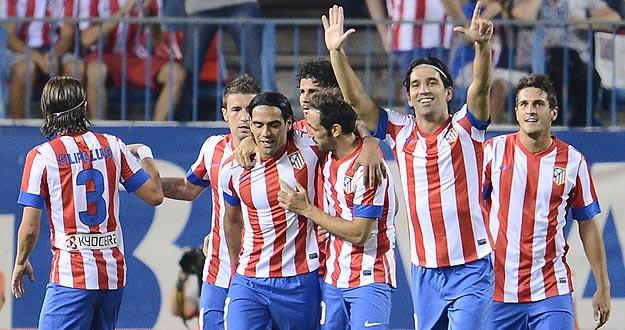 Los jugadores del Atlético de Madrid celebran un gol esta temporada.