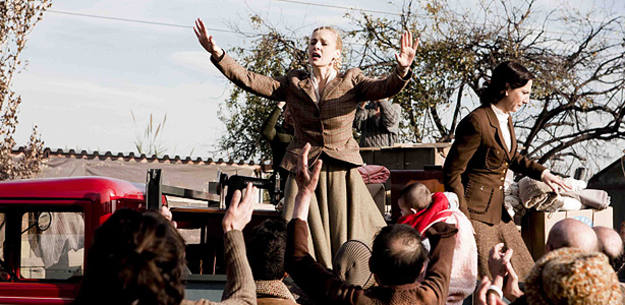Julieta Cardinali (Eva Perón) en un momento de la serie 'Carta a Eva'