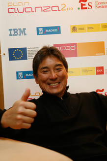 Guy Kawasaki en la Feria de Contenidos Digitales que se celebra en Madrid