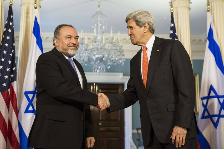 Kerry Meets With Israeli Foreign Minister Avigdor Lieberman at State Dep't