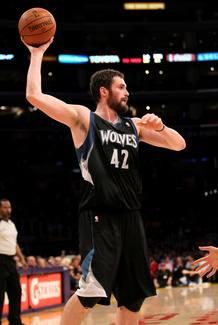 Kevin Love, líder de los Minnesota Timberwolves.