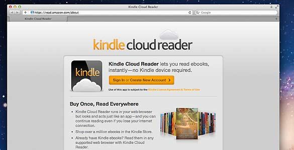 Aspecto de la nueva aplicación de Amazon para leer libros electrónicos sin 'e-reader'