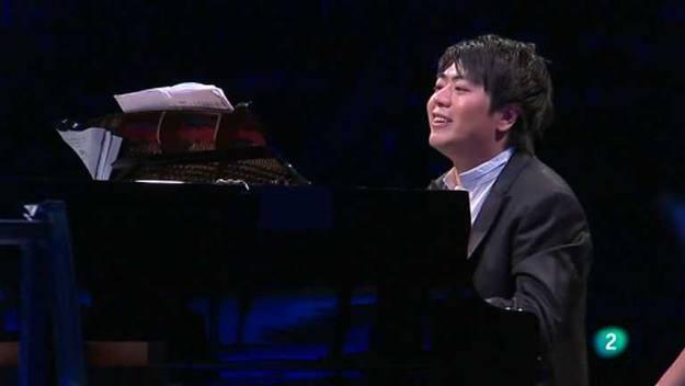El popular pianista chino Lang Lang, durante la celebración de su concierto homenaje en Berlín