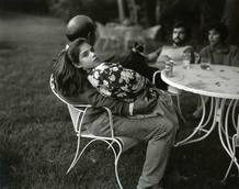 Leah and her father, de Sally Mann