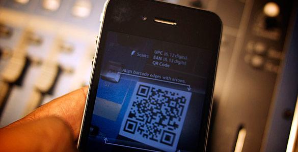 Lectura de un código QR con un móvil