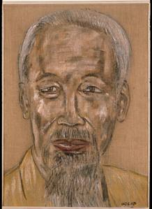 Leon Golub. 'Hoi Chi Minh (1967)' (1976). The Broad Art Foundation, Santa Monica