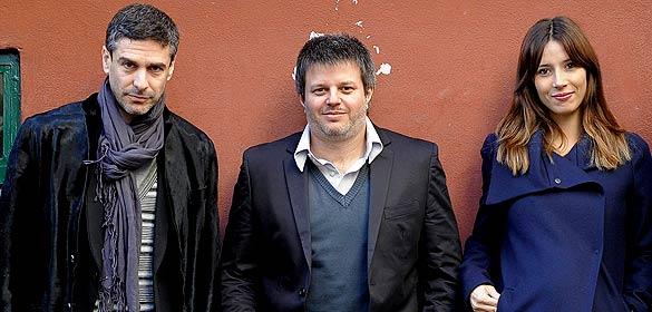 Leonardo Sbaraglia, Miguel Cohan y Bárbara Goenaga
