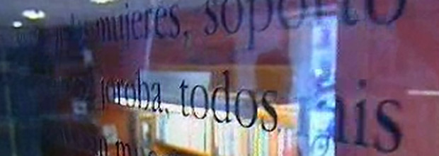 Letras en el cristal