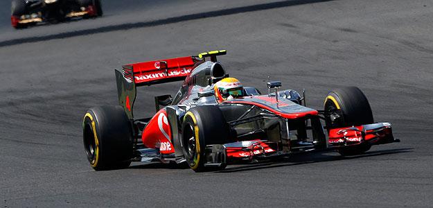 Lewis Hamilton durante el Gran Premio de Hungría