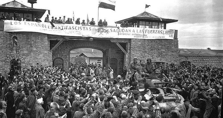 Liberación de presos en el campo de concentración austriaco de Mauthausen