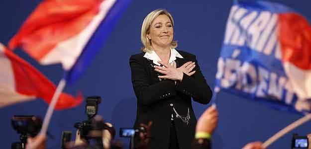 La líder del Frente Nacional (FN), Marine Le Pen, bate récords en la primera ronda de las elecciones francesas.