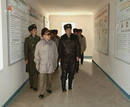 Frame grab of North Korean leader Kim Jong-il visiting an air force base