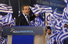 El líder de Nueva Democracia (ND), Antonis Samarás