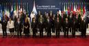Los líderes mundiales posan en la cumbre del G